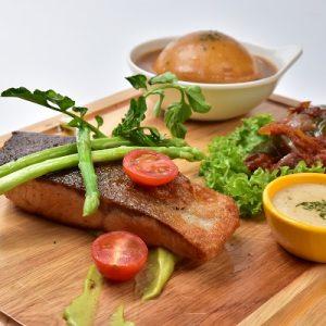 Molten Diners Fish Menu Char Grilled Scottish Salmon