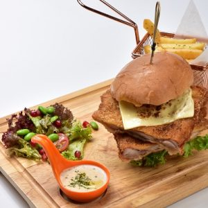 Molten Diners Burgers Menu Double Crispy Chicken Burger