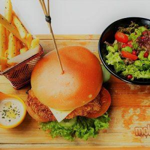 Molten Diners Burger Menu Crispy Chicken